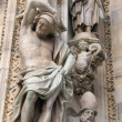 Sculptures on the cathedral in Milan, Italy — Stock Photo