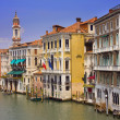 Colorful buildings along the canal in Venice — Stock Photo