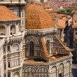 Stock Photo: Florence view from Cathedral tower in Italy