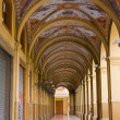 Stock Photo: Decorated old portico with columns in Bologna