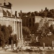 Stock Photo: Fori Imperiali ancient ruins in Rome