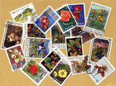 Stamps with plants — Stock Photo