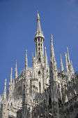 Side facade of cathedral in Milan, Italy — Stock Photo