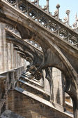 Details on the roof of gothic Milan Cathedral — Stock Photo