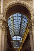 Building of the gallery Vittorio Emanuele in Milan — Stock Photo