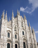 Milano duomo mermer katedrali — Stok fotoğraf