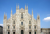 Facade of cathedral in Milan — Stock Photo