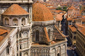Florence view from Cathedral tower in Italy — Stock Photo