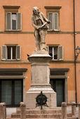 Standbeeld van salvani in bologna — Stockfoto