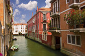 Typical water street in Venice — Stock Photo