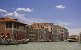 Grand canal view in Venice — Stock Photo