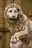 Lion statute in Florence — Stock Photo