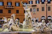 Poseidon Statue on Piazza Navona in Rome — Stock Photo