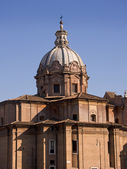 Dome of the church in Forum Romanum in Rome — Stock Photo