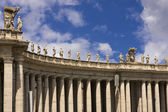 St. Peter's Basilica on San Piedro Square in Vatican City — Stock Photo