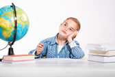 First grader boy — Stock Photo