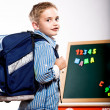 First grader boy - Stock Photo