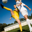 Soccer girls — Stock Photo