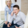 Stock Photo: Portrait of a young couple