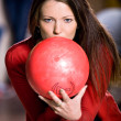 Bowling girl — Stock Photo #7283359