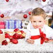Xmas boy — Stock Photo