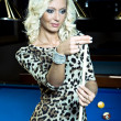 Billiard girl - Stock Photo