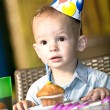 Celebrating birthday - Stock Photo