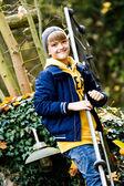 Boy in the autumn park — Stock Photo