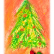 Royalty-Free Stock Photo: Christmas drawing