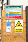 Building site signs — Stock Photo