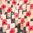 Stock Photo: Remembrance poppies