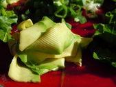 Shaved avocado salad — Stock Photo