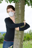 Environmentalist woman — Stock Photo