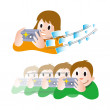 Taking a Photo — Stock Vector