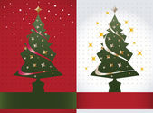 Christmas tree background, vector — Stock Vector