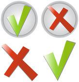 Etiquetas engomadas de la marca de verificación — Vector de stock