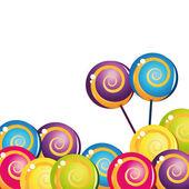 Colección colorida deliciosa piruleta — Vector de stock