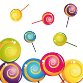 Colorful delicious lollipop collection — Stock Vector