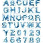 Ice alphabet — Stock Photo
