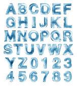 Alfabeto di ghiaccio — Foto Stock