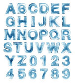Alphabet de glace — Photo