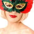 Portrait of girl in mask — Stock Photo #7808934