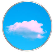 Circle with the sky — Stock Vector