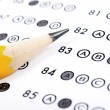 Test score sheet with answers — Stock Photo #6829237