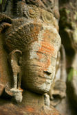 Smiling faces in the Temple of Bayon — Stock Photo