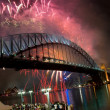 Sydney Harbour Bridge New Year — Stock Photo
