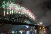 Sydney Harbour Bridge New Year — Stock Photo