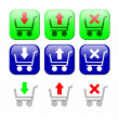 Shopping carts. Set of icons — Stock Photo