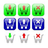 Einkaufswagen. Reihe von icons — Stockfoto