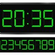 Vector Green Digital Clock — Vector de stock